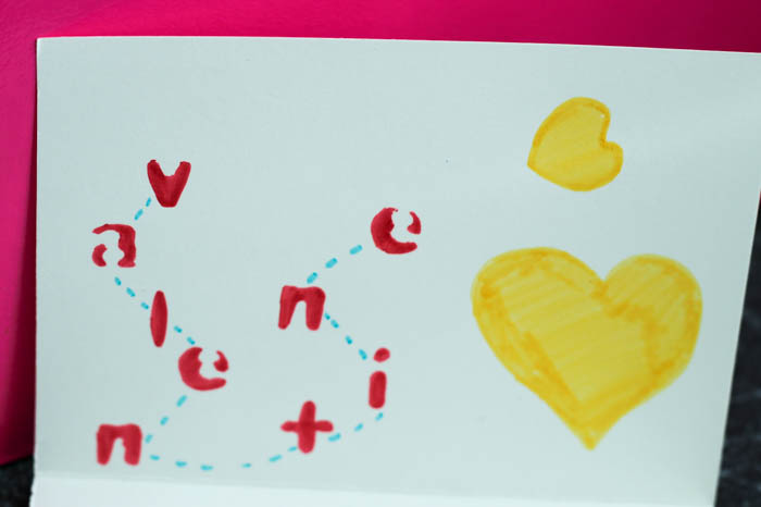 treasure map Valentines card
