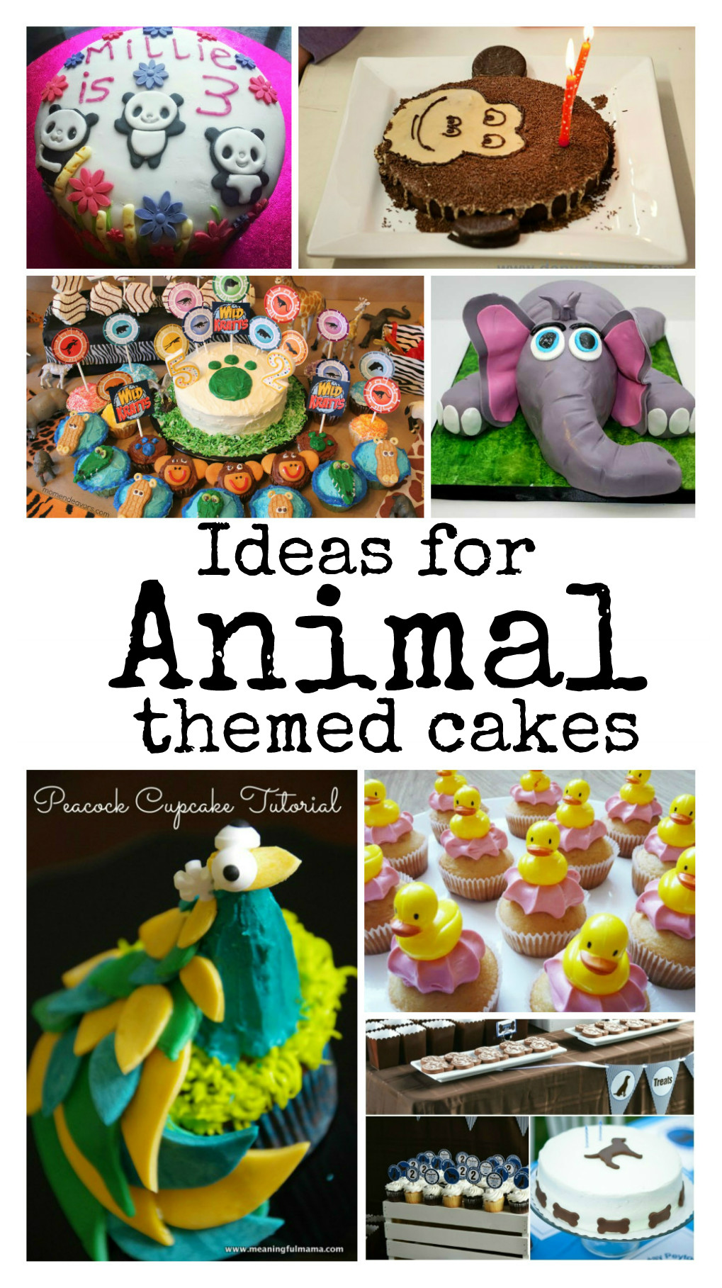 So many great ideas for animal cakes for kids. These are so cute, and perfect for a jungle themed birthday