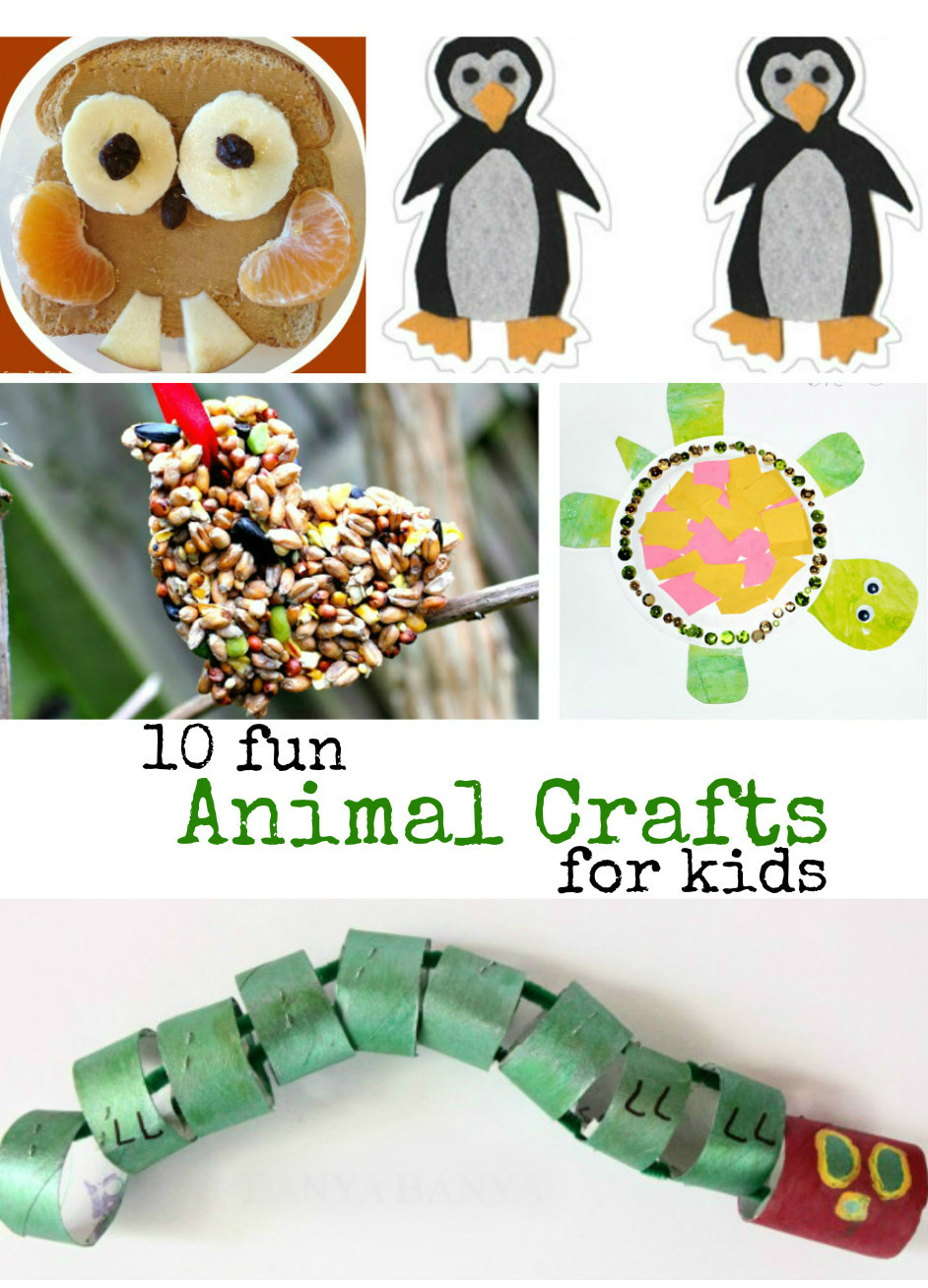 10 fun animal crafts for kids