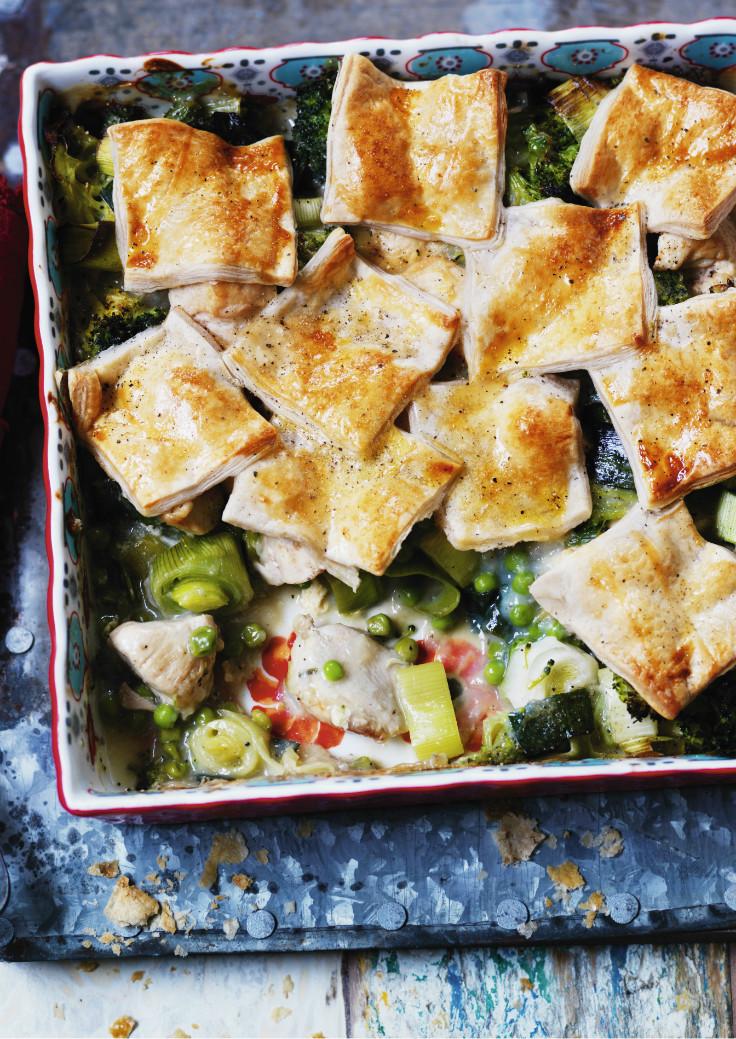 Chicken and leek pie healthy comfort food recipe