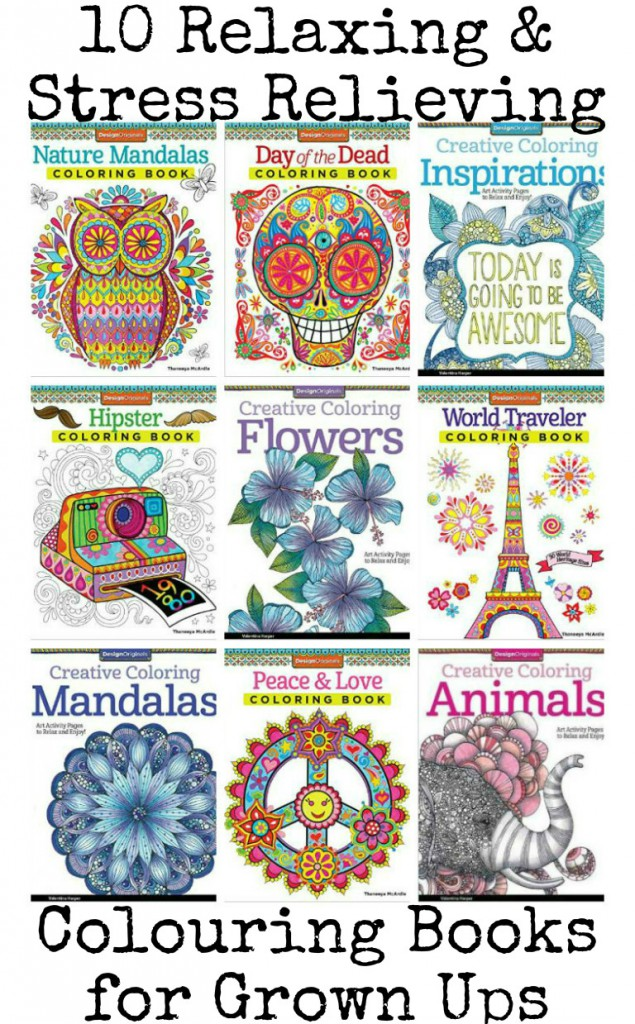 10 awesome relaxing and stress relieving colouring books for grown ups
