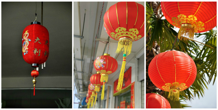 Paper Plate Chinese Lantern Craft For Chinese New Year In The Playroom