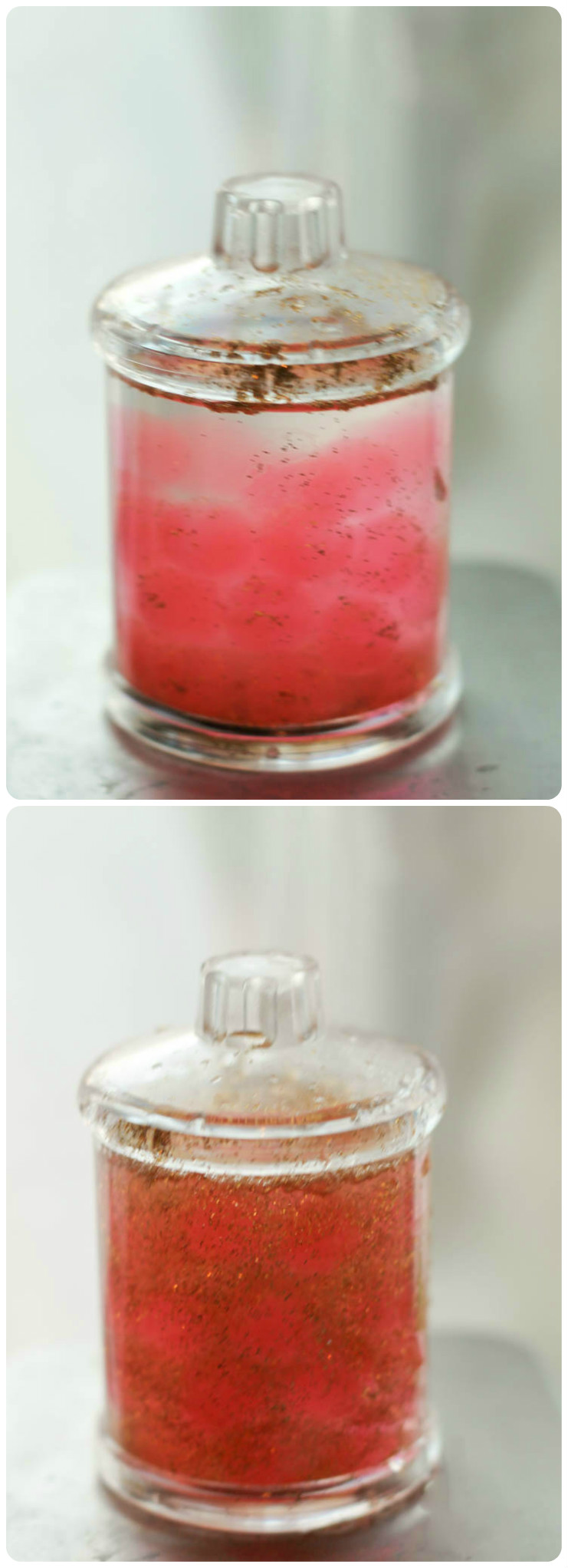 Valentines sensory snow globe - so easy to make and very calming