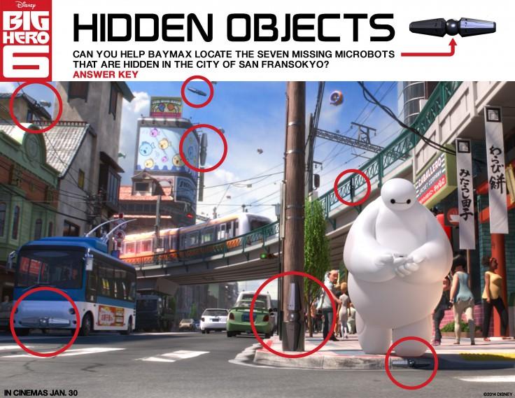 Big Hero 6 Hidden Objects Answer Key