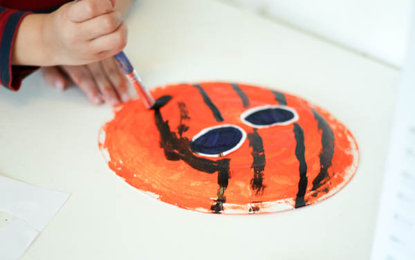 painting a spiderman face