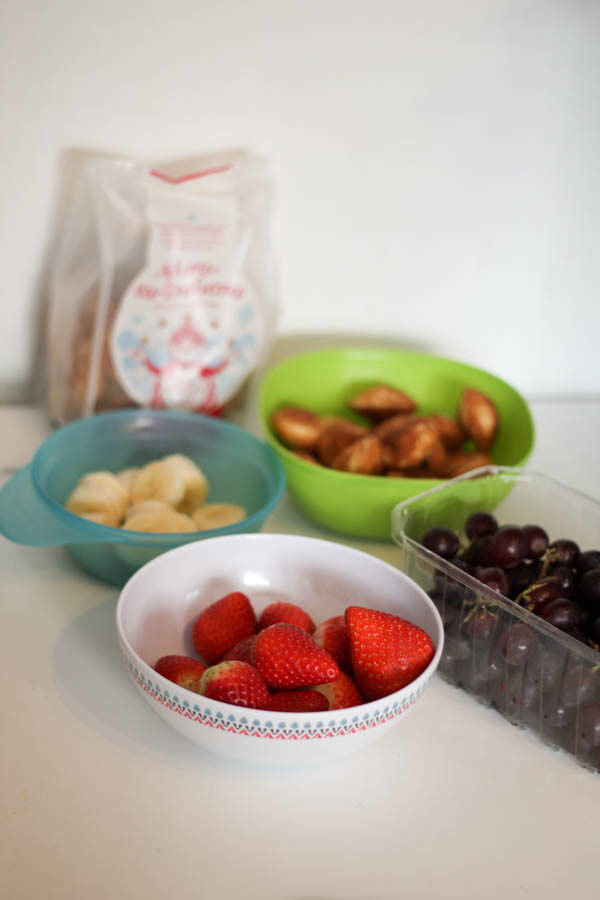 ingredients for pancake fruit kebabs