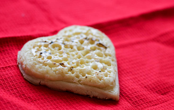 valentines heart crumpet from Asda