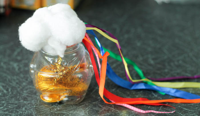 pot of gold rainbow sensory shaker