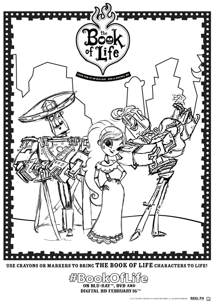 the book of life colouring pages