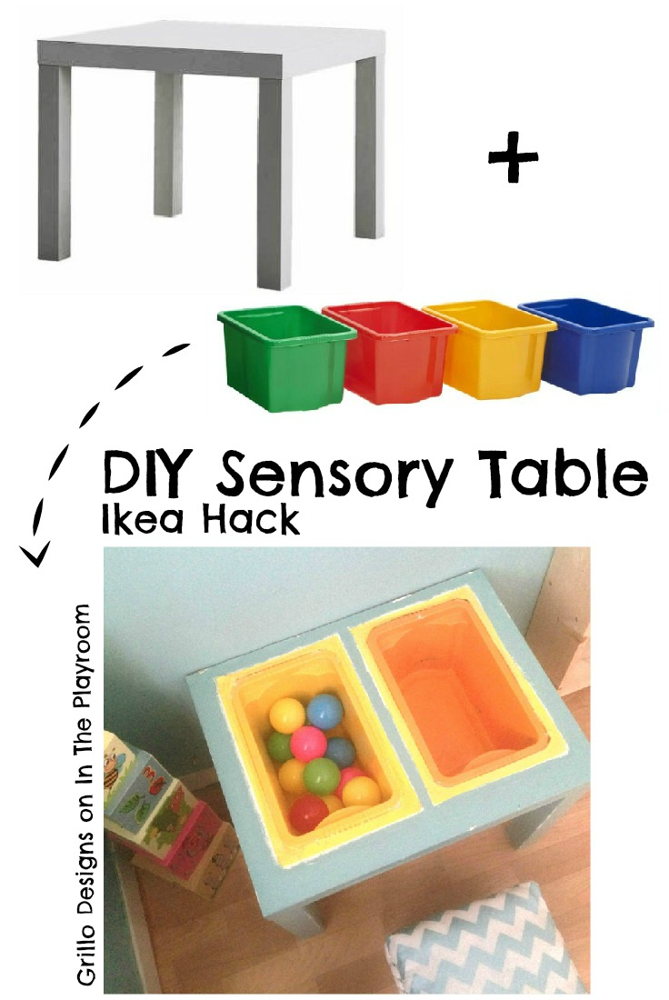 diy sensory table ikea hack in the playroom. Black Bedroom Furniture Sets. Home Design Ideas