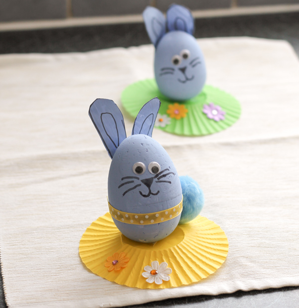 easter egg bunnies kids craft for Springtime