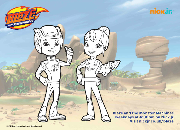 Blaze and the Monster Machines Colouring Pages and Twitter ...
