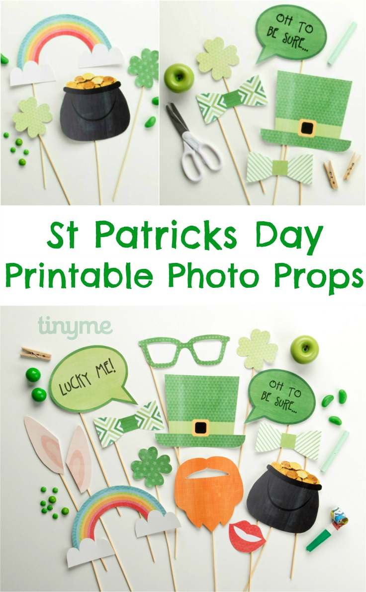 St Patricks Day Printable Photo Booth Props