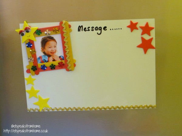 personalised photo frame message board