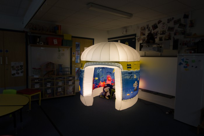 Pods sensory area at a special needs school
