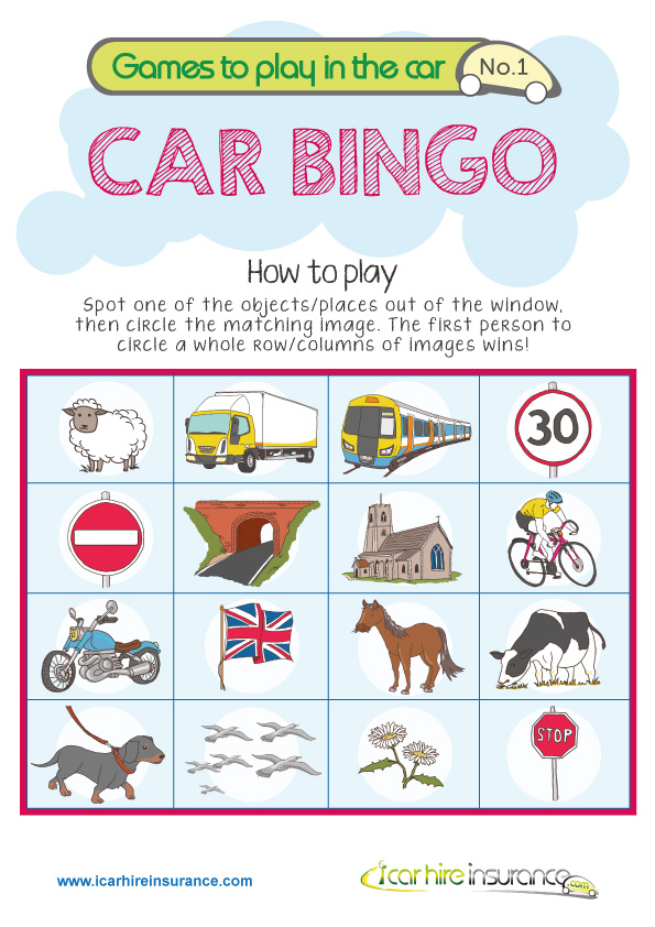image relating to Travel Bingo Printable titled Maintaining Children Entertained within just the Automobile : Drive Printables for
