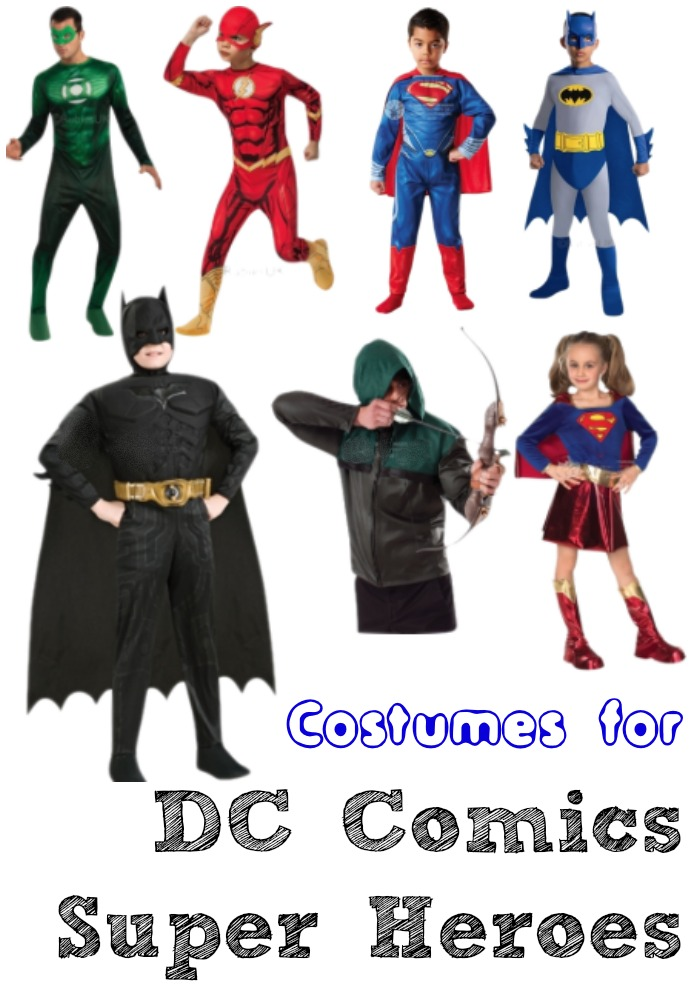 dc comics super heroes dress up outfits and costume ideas