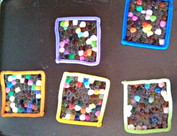 melted bead candle holders step 1