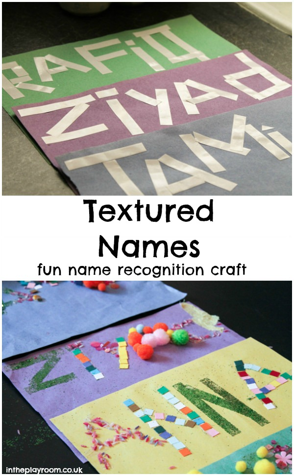 Textured Names Fun Name Recognition Craft In The Playroom