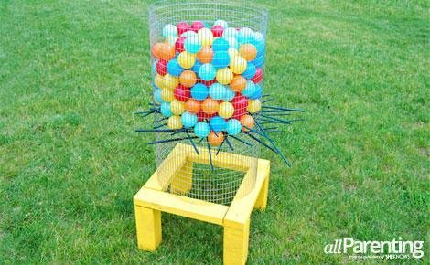 outdoor games giant kerplunk game in the garden for summer