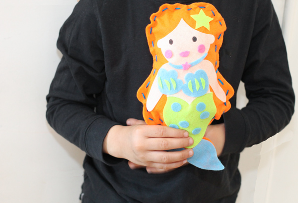 sewing mermaid project for kids