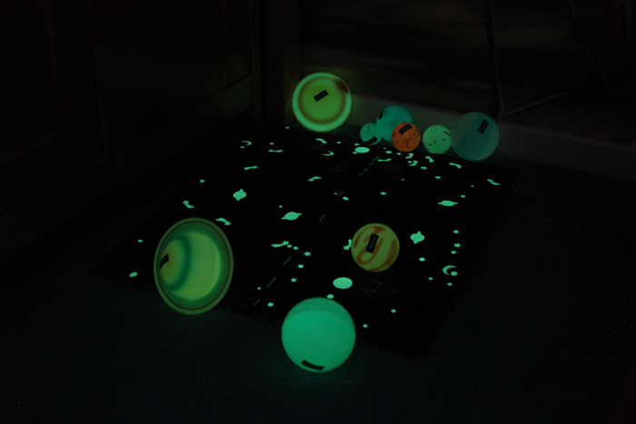 glow in the dark planets, stars, solar system