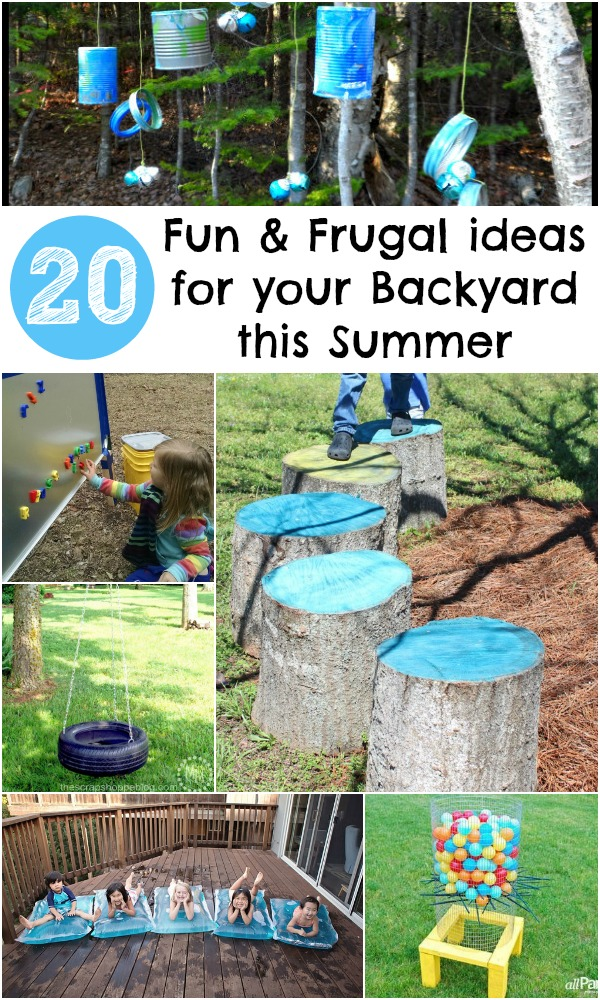 20 Fun and Frugal ideas for your Backyard this Summer - In ... on Affordable Backyard Ideas id=42458