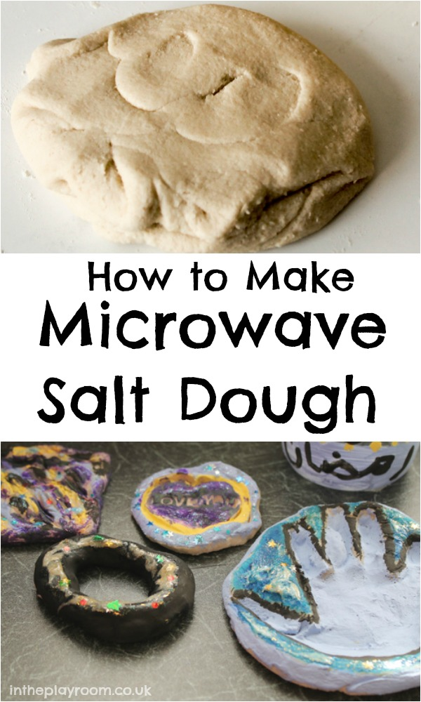 How make salt dough in the microwave. So much quicker than the traditional method. Then kids can paint and decorate their salt dough ornaments