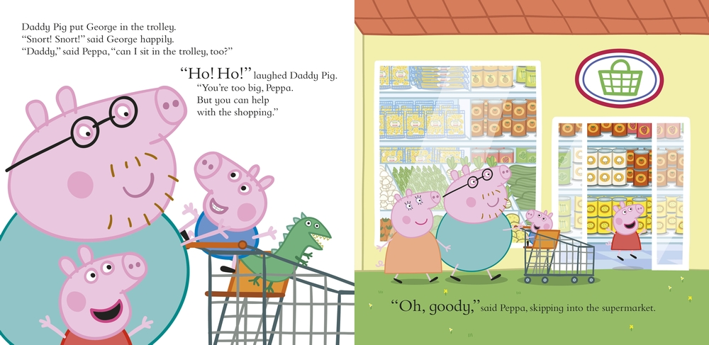Peppa Pig Lets Go Shopping Peppa book pages