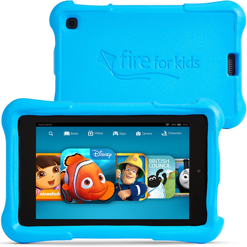 Fire HD Kids Edition Front and Back Blue