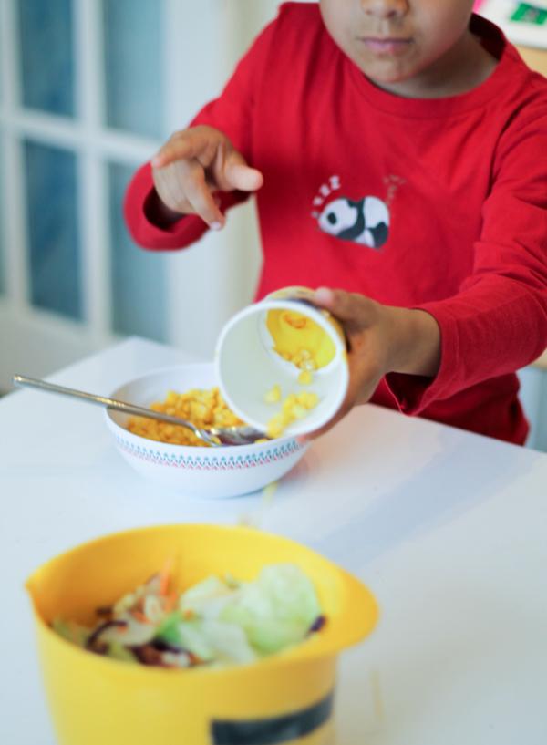minion sweetcorn shooter salad