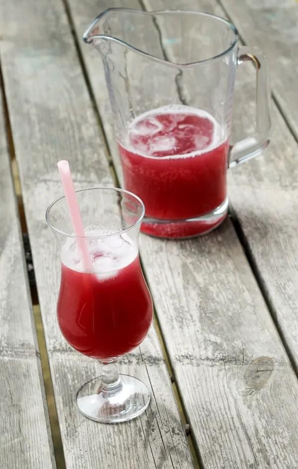 lychee cooler summer drink recipe