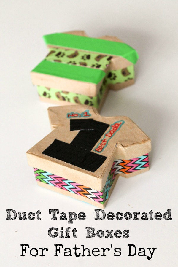 Father's day gift boxes decorated with tape