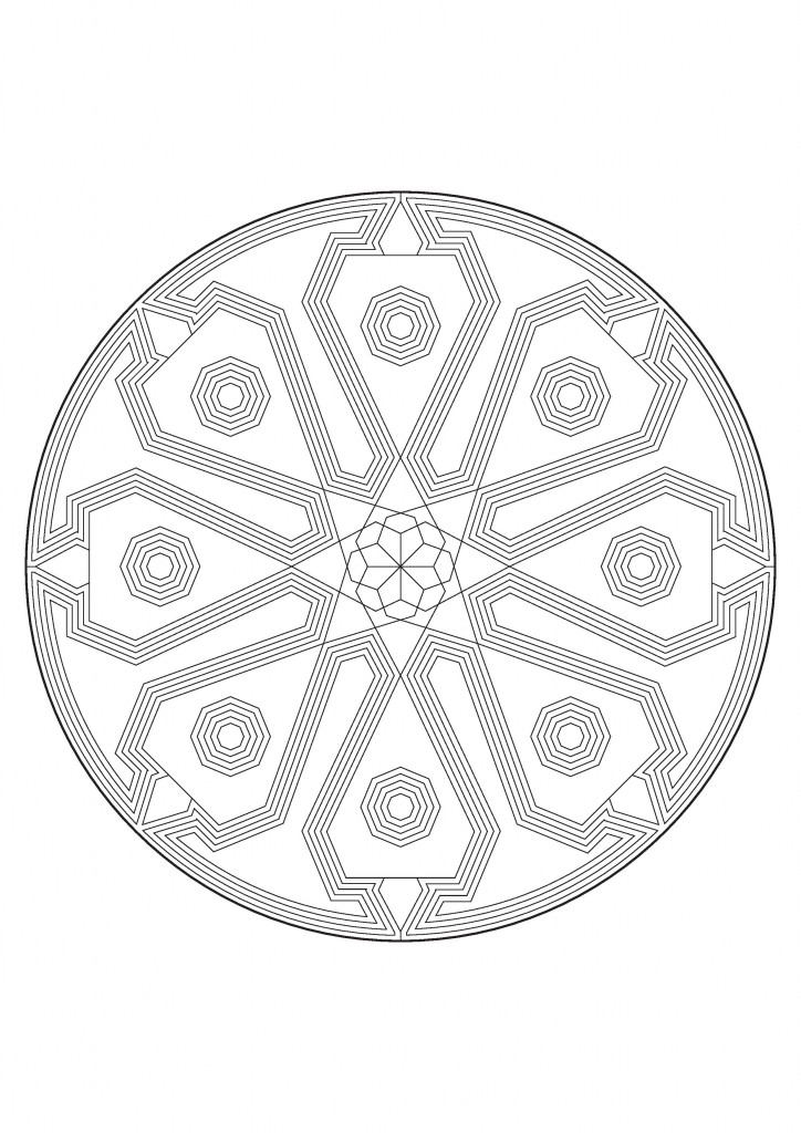 free printable mandalas to colour  in the playroom