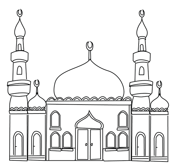 Ramadan Colouring Pages In The Playroomrhintheplayroomcouk: Coloring Pages Masjid At Baymontmadison.com