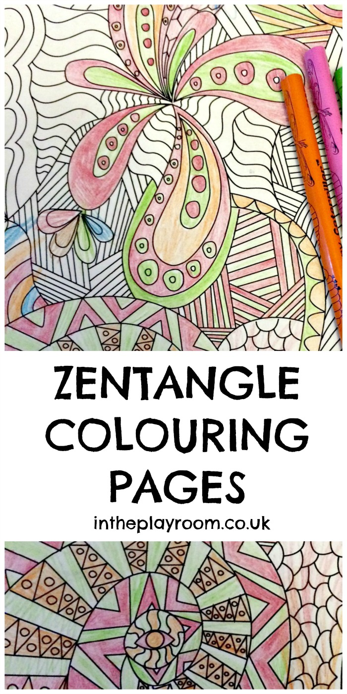 Free printable coloring pages uk - Free Printable Zentangle Colouring Pages