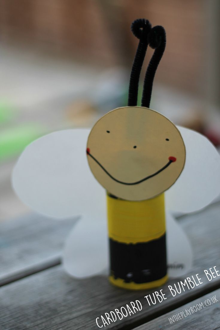 cardboard tube bumble bee craft