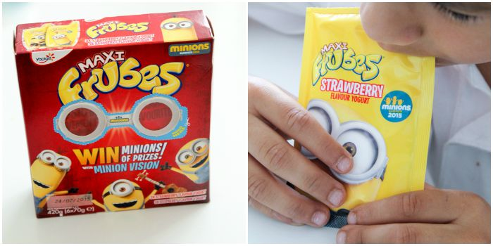 Minions packaging on Frubes