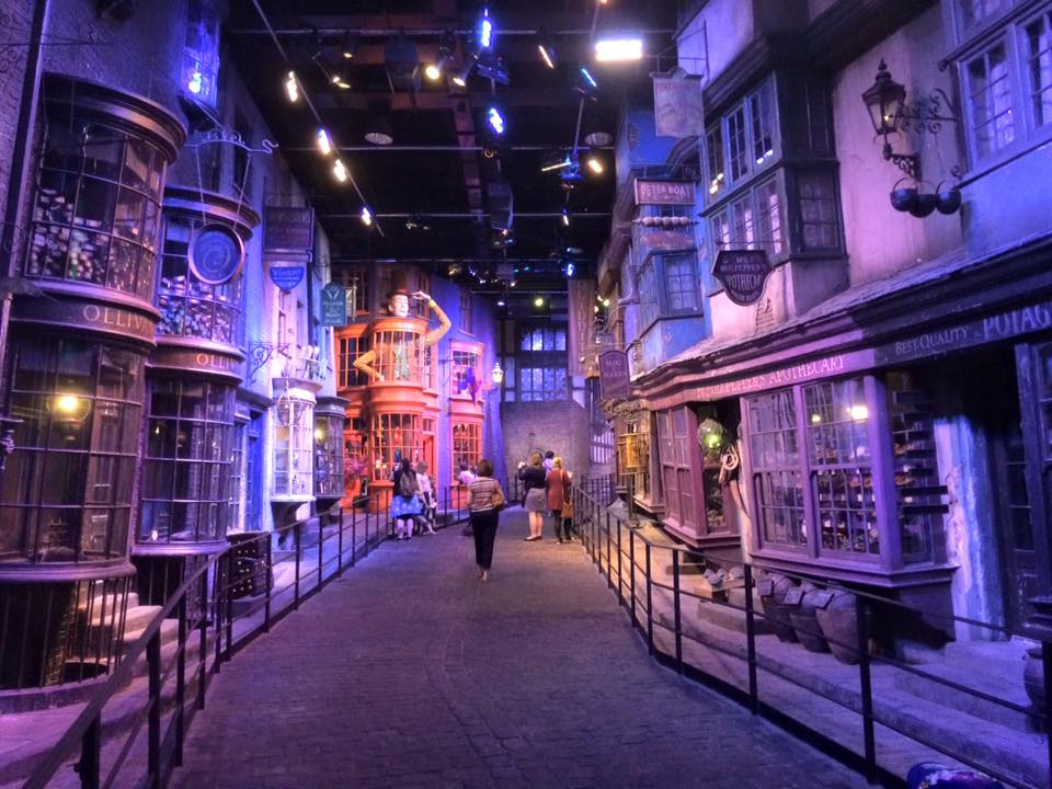 Diagon alley at the warner bros harry potter studio tour