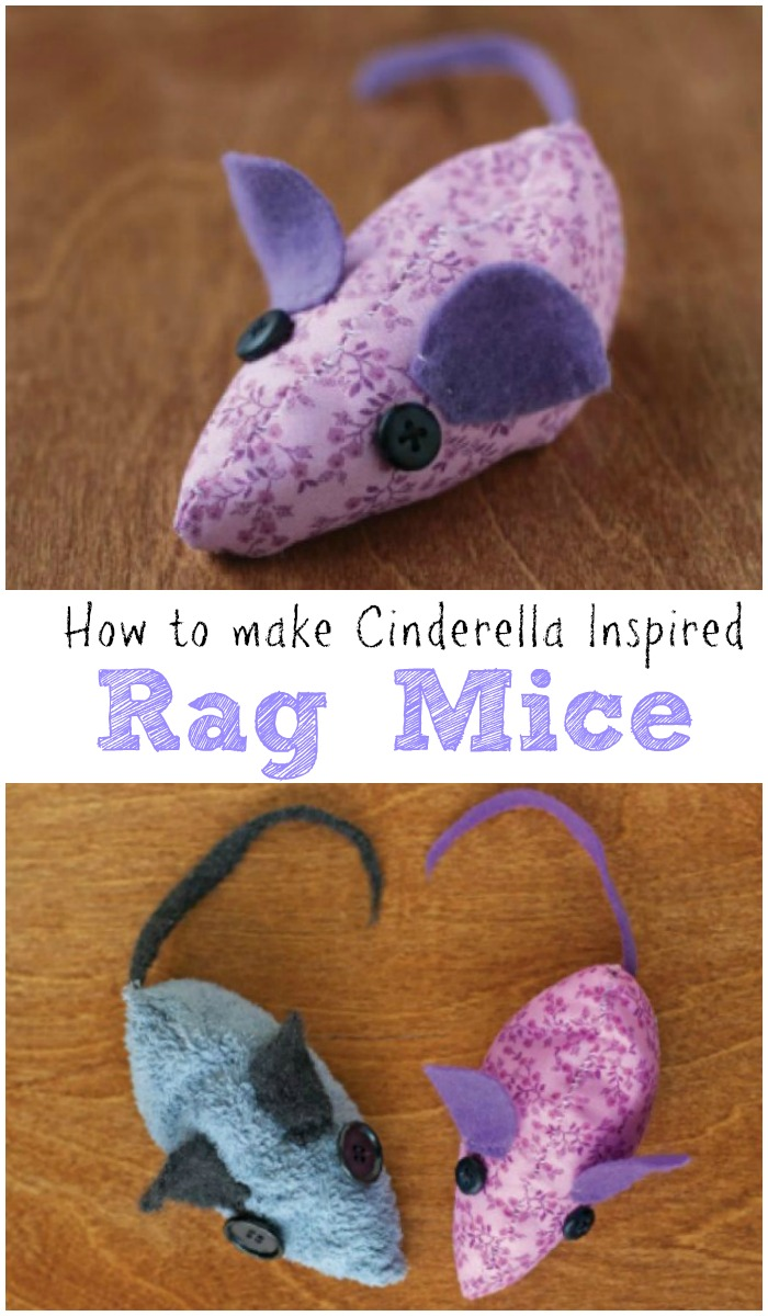 How to make rag mice, simple craft inspired by Cinderella
