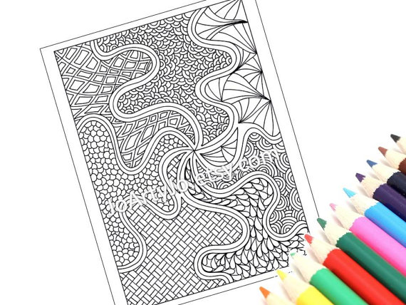 zentangle colouring page