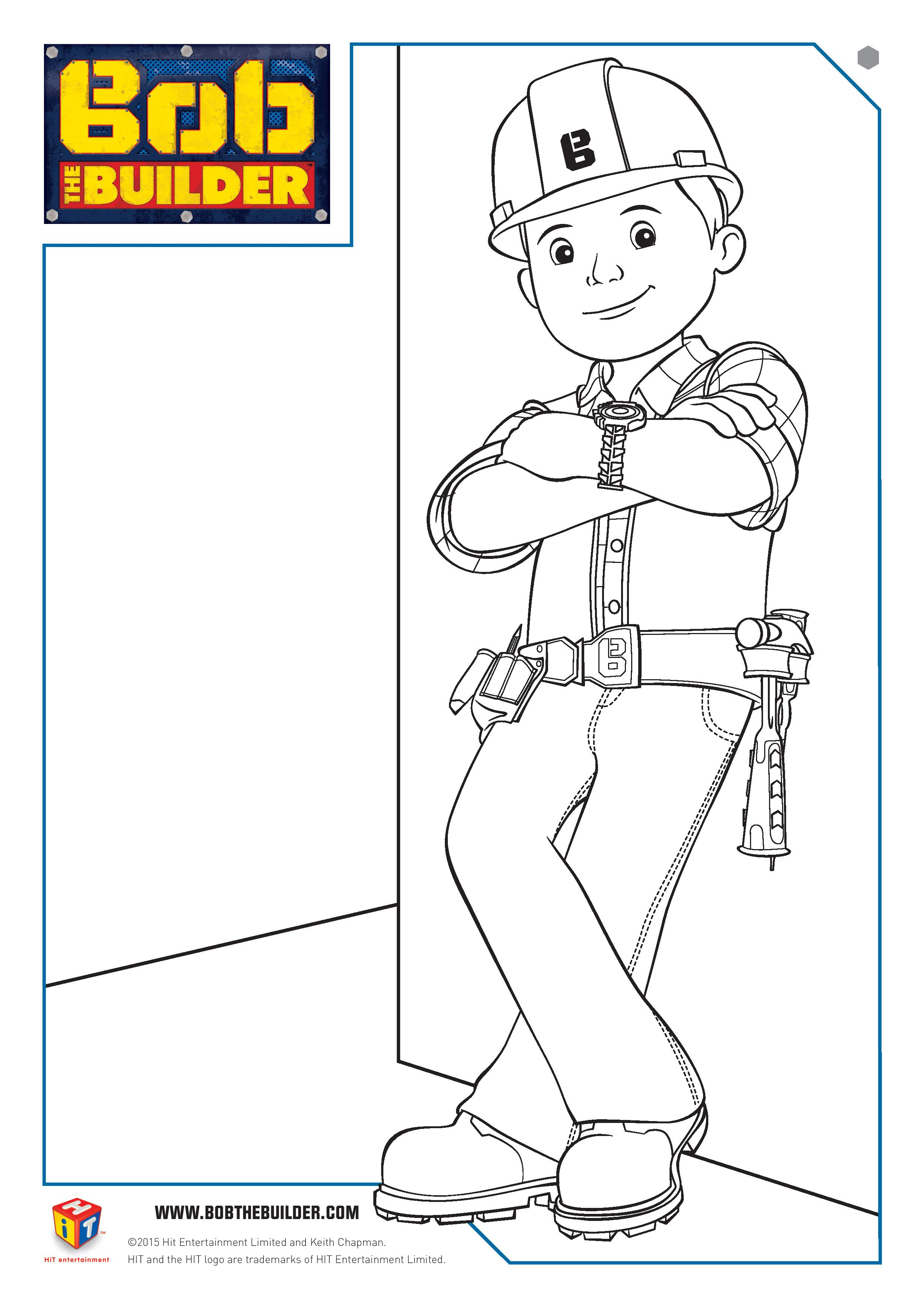 Bob the Builder Twitter Party and Colouring Page In The Playroom