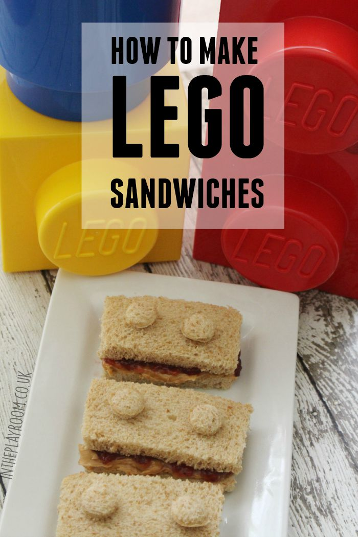How to make Lego sandwiches. Super easy and cute idea for a Lego party