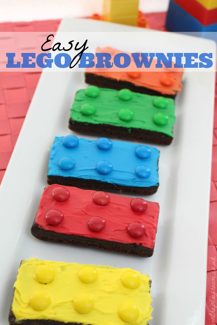 Easy Lego Brownies In The Playroom