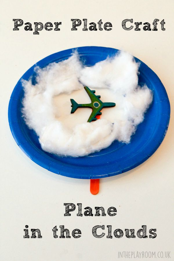 Paper Plate Plane in the Clouds - In The Playroom