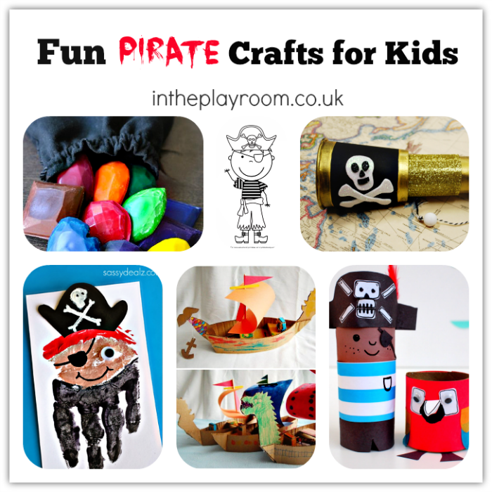 Fun pirate crafts for kids for talk like a pirate day