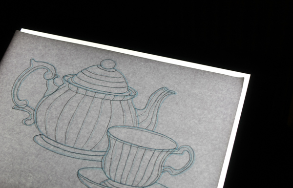 Transotype drawing light table with zentangle template