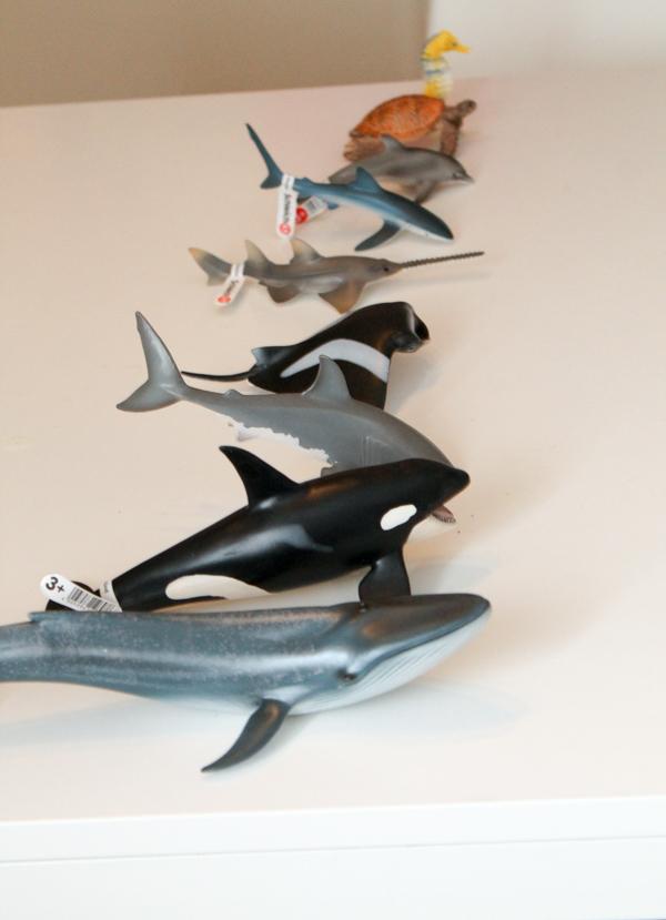 schleich ocean animals ordered by size