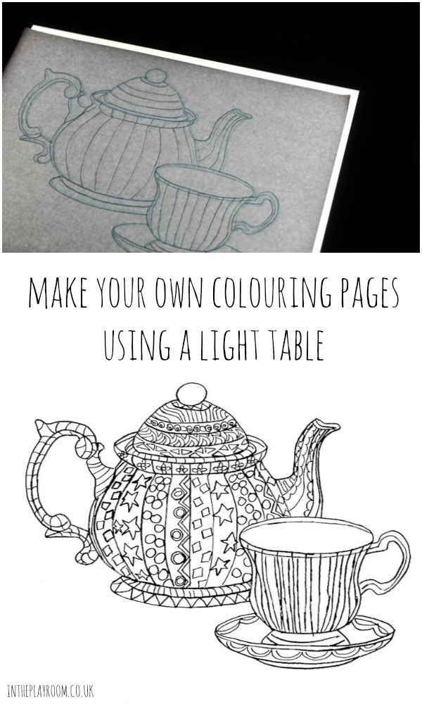 Making Your Own Colouring Pages With A Drawing Light Table