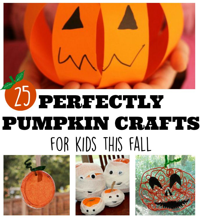 Perfectly pumpkin crafts for kids this fall